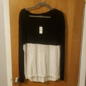 Black and white Express sweater